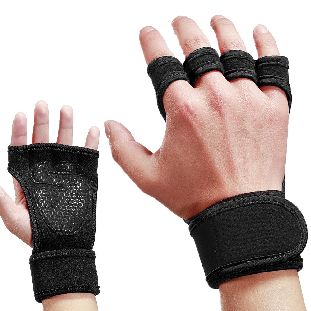 Fitness Weightlifting Anti-skid Riding Hard Pull Gloves Men's And Women's Indoor Sports Gloves