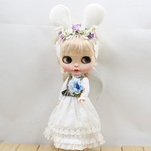 Neo Blythe Doll Mori Girl Style White Dress