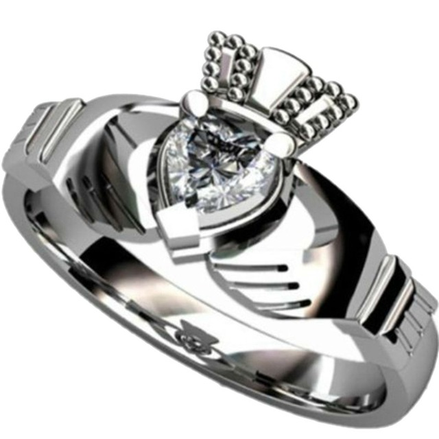 Claddagh Rings Stainless Steel Claddagh Ring Heart Wedding Engagement Anniversary 1