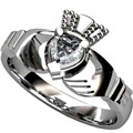 Size 5 6 7 8 9 10 Stainless Steel Claddagh Ring Heart Wedding Engagement Anniversary Irish Birthday Cocktail anniversary