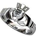 Size 5 6 7 8 9 10 Stainless Steel Claddagh Ring Heart Wedding Engagement Anniversary Irish Birthday Cocktail anniversary