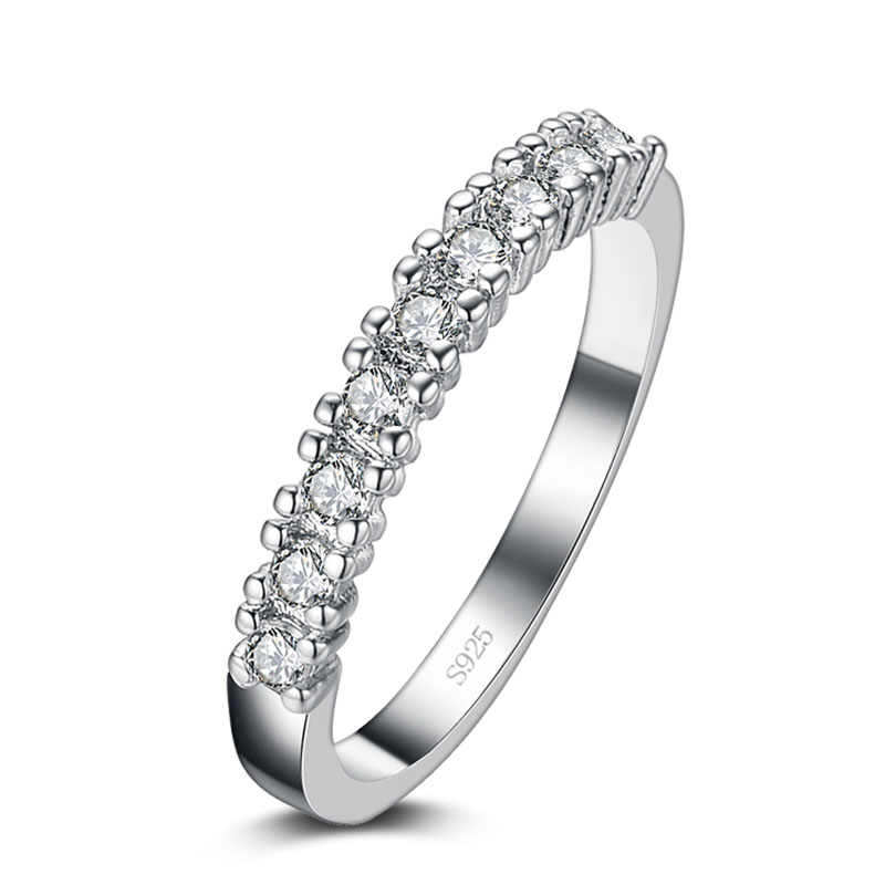 Lose money promotion super shiny cubic zirconia 925 sterling silver ladies`finger wedding rings hot sell rings