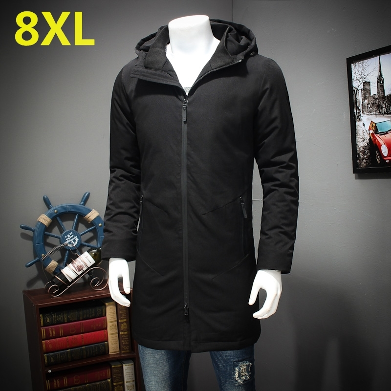 8XL 7XL 6XL 5XL in the long winter cotton padded clothes men XL warm coat fat fat thick jacket hooded cotton down free shipping