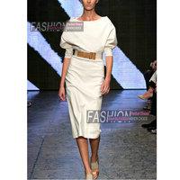 2015 весеннее Модное Элегантное нарядное элегантное цельнокроеное платье средней длины