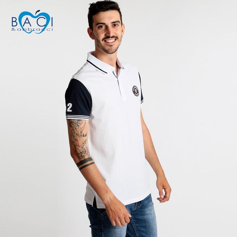 White   polo   shirt short sleeve cotton