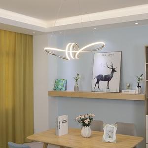 Image 2 - Chromowane lub pozłacane hanglamp wisiorek led światła do jadalni kuchnia lampa w stylu nordyckim Home Deco wisiorek żyrandol