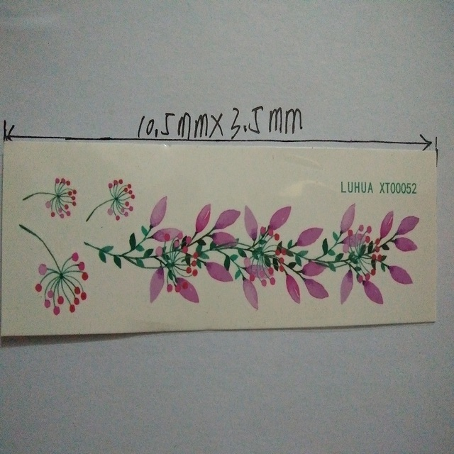2 Pcs Waterproof Small Fresh Small Floral Tattoo Stickers – Charming Photo Color Stickers