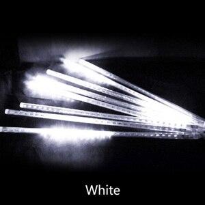 Image 5 - Multi color 30 CM Meteor Doccia a Pioggia Tubi AC100 240V LED Luci Di Natale Festa di Nozze Giardino di Natale Stringa di Luce Esterna