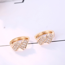 FYM High Quality 3 Colors Round Shape Cubic Zircon Crystal Earring Wedding Hoop Earrings Party Bijoux Jewelry For Women fym high quality 7 colors rhinestone cz zircon boho hoop earrings for women steampunk style party jewelry accessories