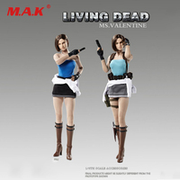 1:6 FD005a/FD005b Living Dead Zombie Female Killer Jill Ms.Valentine Clothes & Head Sculpt Set Model for 12'' Action Figure Body
