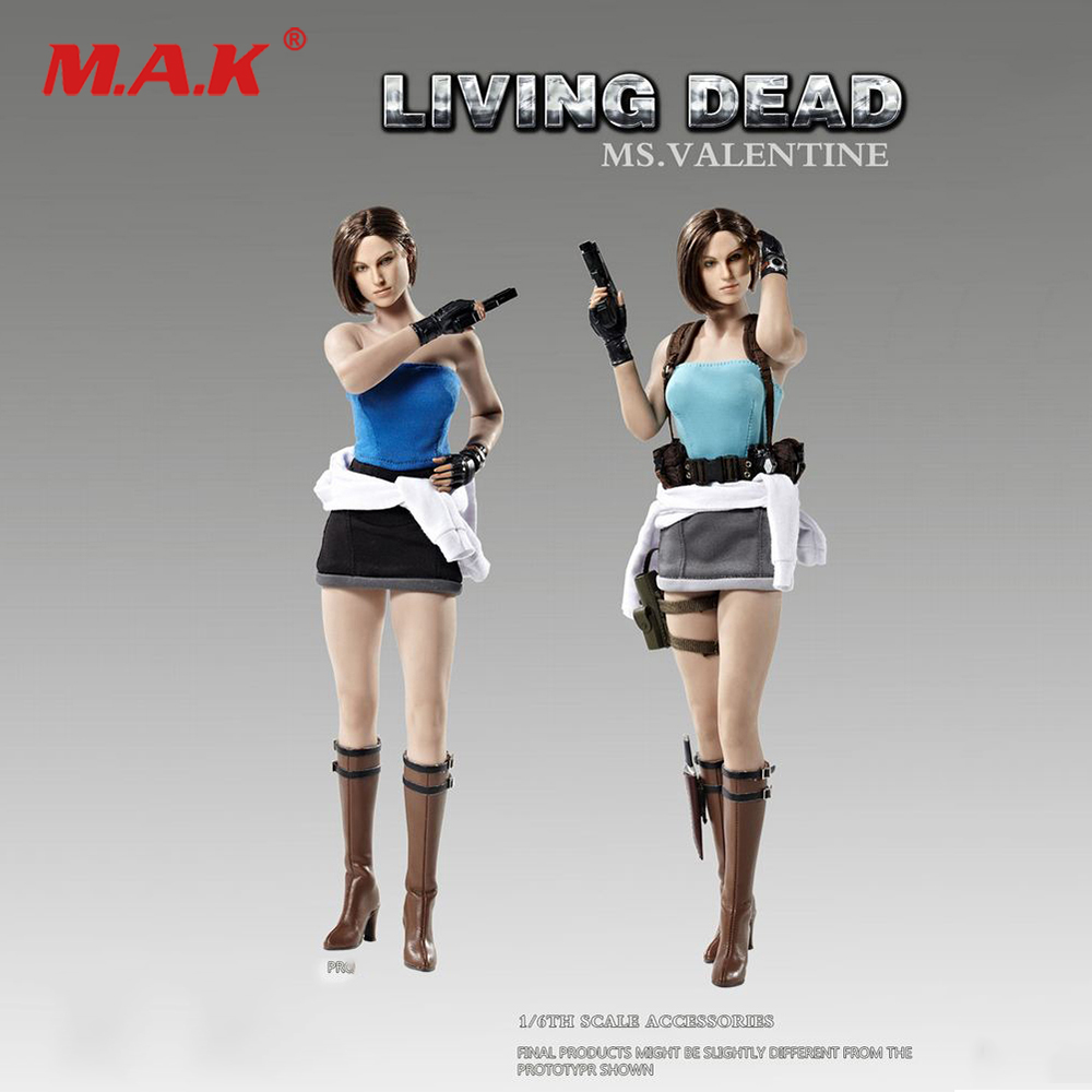 1:6 FD005a/FD005b Living Dead Zombie <font><b>Female</b></font> Killer Jill Ms.Valentine <font><b>Clothes</b></font> & Head Sculpt Set Model for 12'' Action Figure Body image