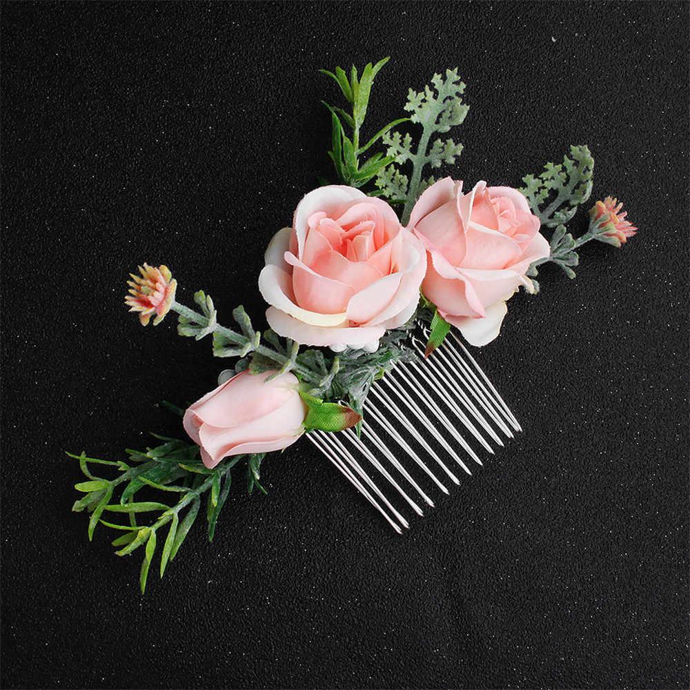Woodland style Wedding hair comb Botanical headpiece Tropical wedding Succulent hair comb Fern leaf Woodland wedding Beach wedding Boho