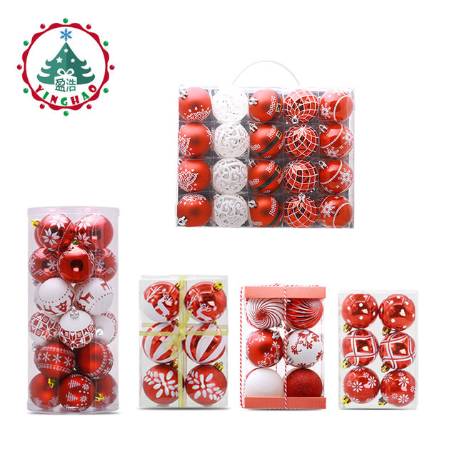 Christmas Balls Theme Pack Ornaments For Tree Decor Ball Bauble Hanging Xmas Ornament Home DIY