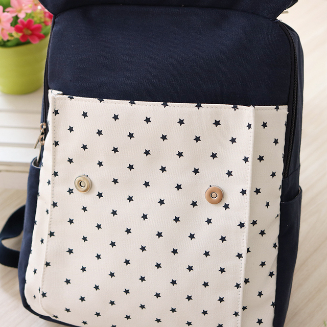 Women Canvas Backpack School bag For Girl Ladies Teenagers Casual Travel bags Schoolbag Backpack 3