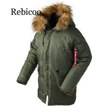 2019 зимняя куртка мужская длинная канада пальто военный меховой капюшон теплый плащ камуфляж тактич