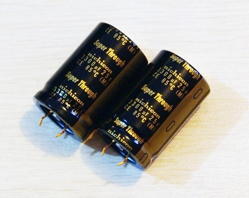 10PCS Electrolytic Capacitor NICHICON 25*40mm 10000UF50V//50V10000UF