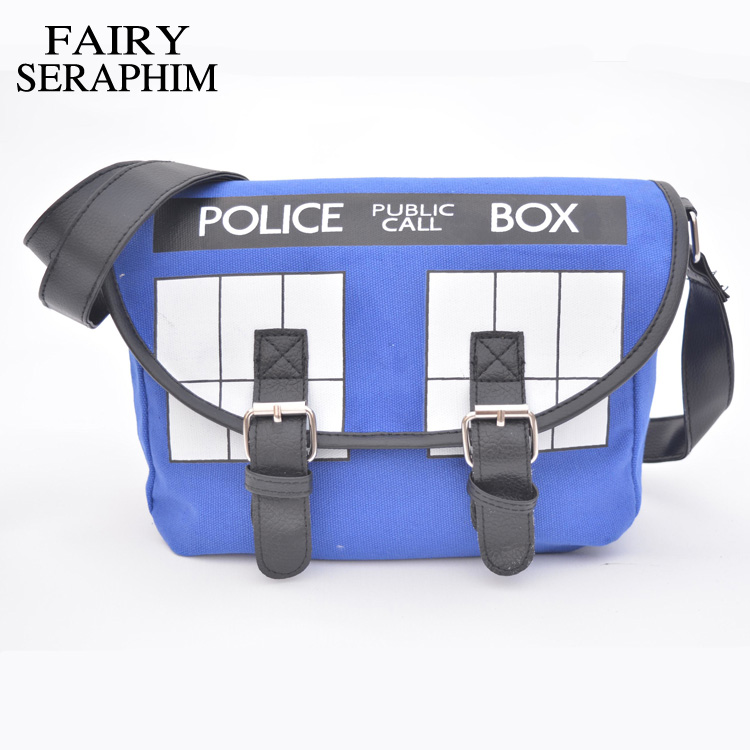 FAIRY SERAPHIM Doctor Who Crossbody Bag Anime Dr Who Tardis Lady's Handbag Canvas Feminina Female Messenger