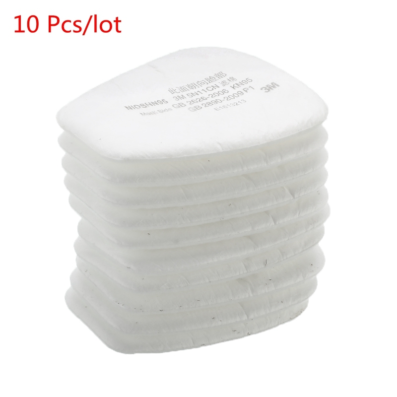 10pcs/lot 5N11 Cotton Filters N95 Replacement For 6200/7502/6800 Gas Dust Mask Accessories Chemical Respirator Painting Spraying