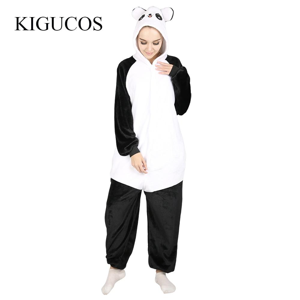 KIGUCOS Unisex Homewear Women Warm Winter Party Costumes Cartoon Panda Pajamas