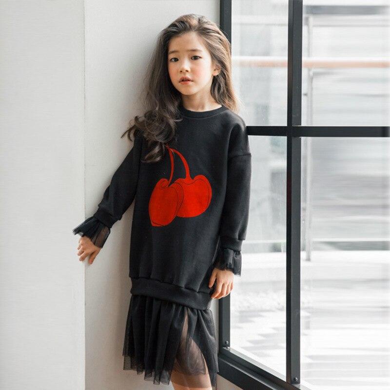 girls dresses for teenagers 5 6 7 8 9 10 11 12 13 14 15 Years autumn winter big girls sweatshirt dress kids 2017 long sleeves
