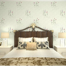 3D Non-woven Wallpaper Three-dimensional Country Grass Flower Living Room Bedroom TV Background Wall Tea House Wallpaper wallpaper eco friendly non woven 3d three dimensional sculpture fashion wallpaper tv background wall wallpaper