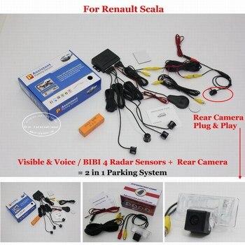 For Renault Scala Car Parking Sensors Rear View Back Up Sensor Reverse Camera Auto Alarm System
