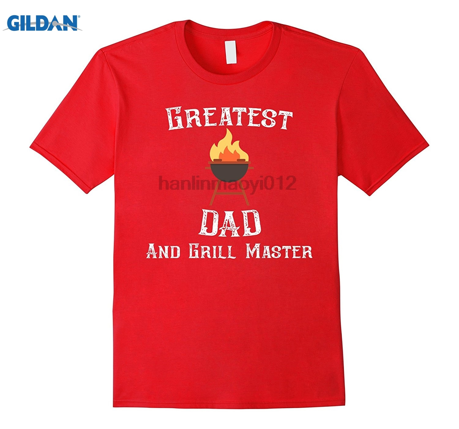 GILDAN Mens Greatest Dad And Grill Master Fathers Day Vintage T-Shirt Latest 2018 Fashion T-Shirt MensPrint Shirt T-Shirt