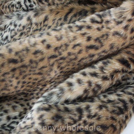 buy long pile leopard print fur fabric cushion faux fur fabric yard 150 50cm. Black Bedroom Furniture Sets. Home Design Ideas