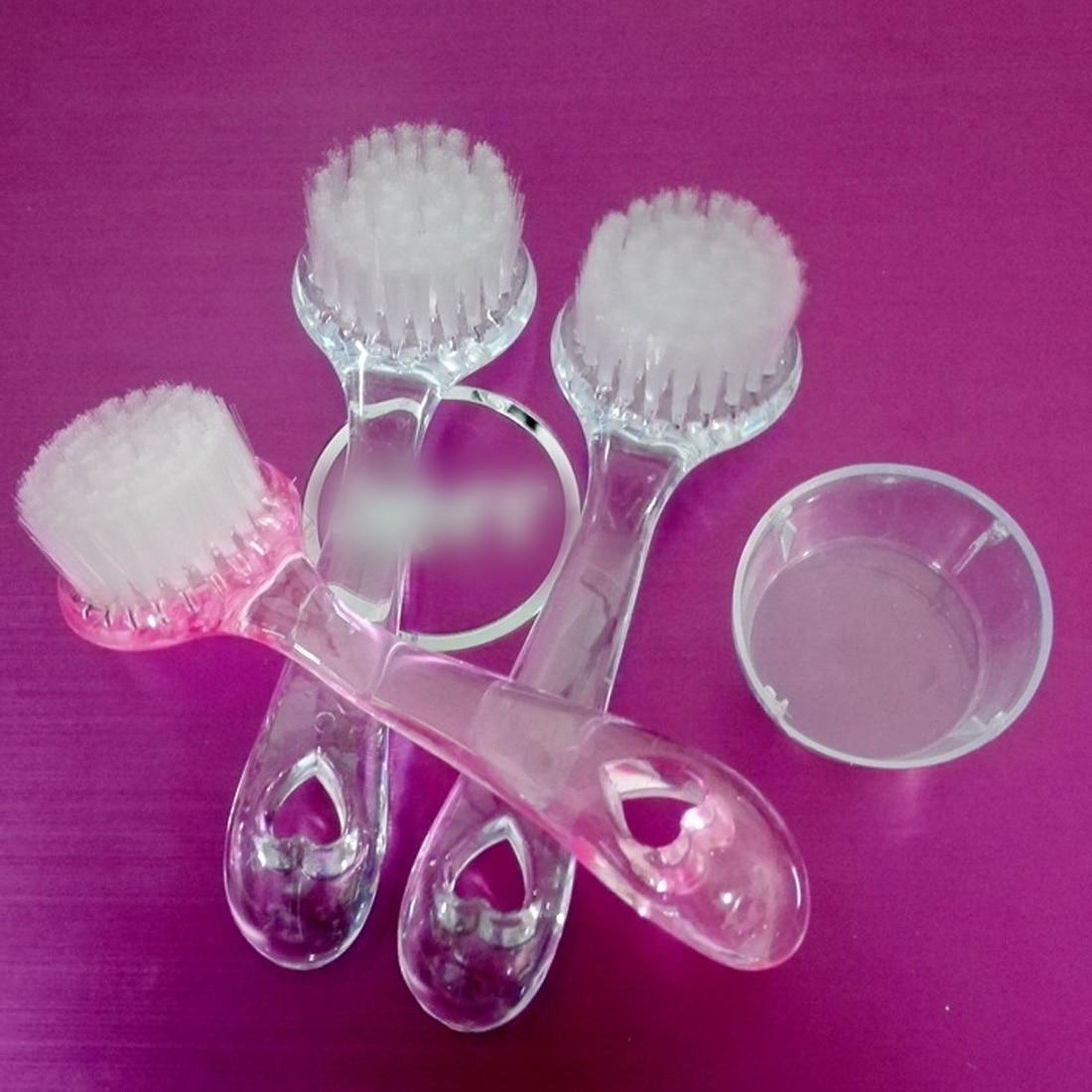 Random Color 1pcs Soft Bristle Brush Scrub Exfoliating Facial Brush Face Care Cleaning Wash Cap Wholesale Quality