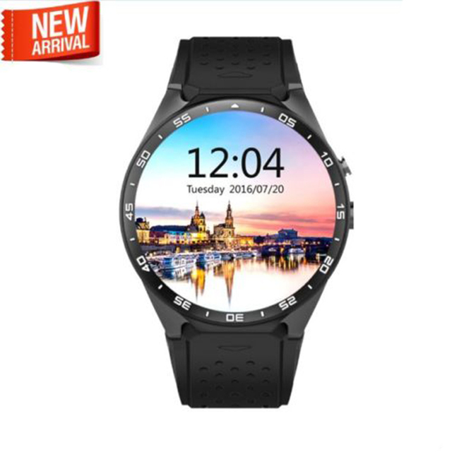 2016 Горячая kingwear Kw88 android 5.1 OS Smart watch 1.39 дюймов 400*400 SmartWatch телефон поддержки 3 Г wi-fi nano SIM WCDMA Сердечного ритма
