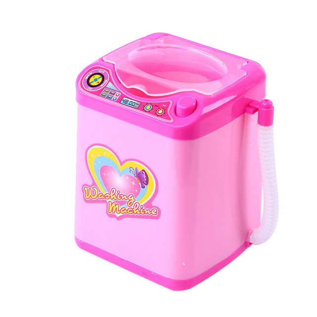 Play House Home Simulation Q Version Small Household Appliances Mini Washing Machine Toys Electric Children New Strange Toy Gift 4