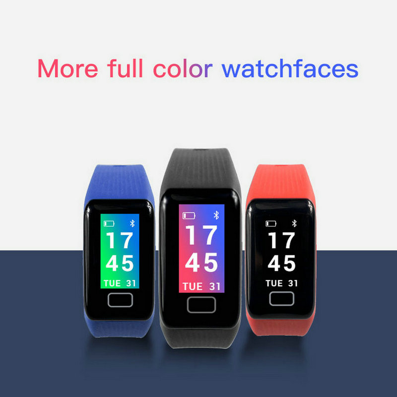 X1 Plus Colorful Screen Smart Bracelet Blood Pressure Blood Oxygen Heart Rate Monitor Wristband Weather Report Smart Band