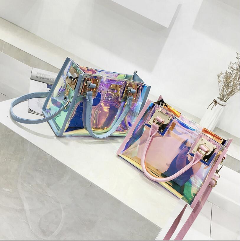 Summer Transparent Laser Handbag Composite Bag Lady Bag Women Shoulder Bag #2345 Fashion Woman Crossbody Bag Female