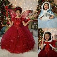 Retail New Christmas Girls Dress For Kids Brand Elsa Costume Baby Dresses Princess Girls Clothing Children