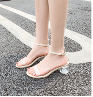 2019 Summer Plastic Sandal Beige Heeled Sandals Sale Of Women's Shoes Buckle Strap High Heels All Match Ladies Platform Black