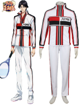 Free Shipping The Prince of Tennis New Japanese Tennis Team Winter Uniform White Anime Cosplay Costume