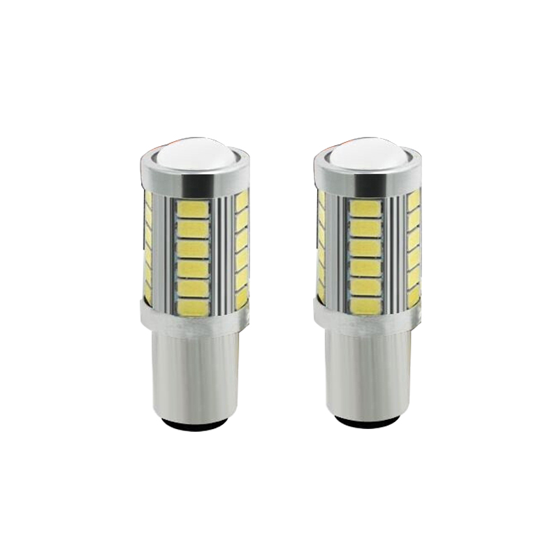 1pcs 1156 BAU15S <font><b>PY21W</b></font> 7507 <font><b>LED</b></font> Bulbs For Cars Turn Signal Lights Amber/<font><b>Orange</b></font> Lighting White Red Blue 5630 33SMD yellow white1P image