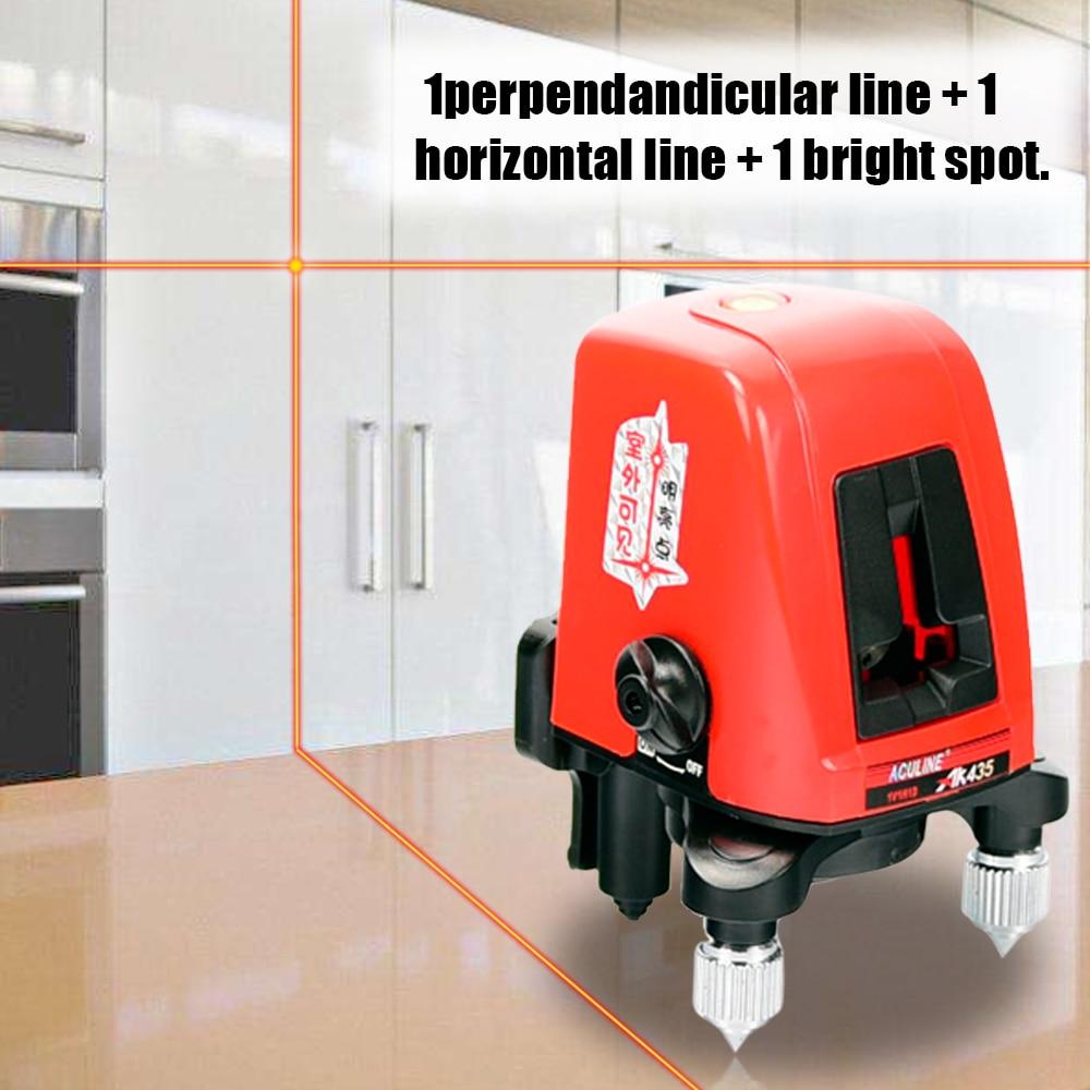 Livelli Laser AK435 Mini Portatile 360 Gradi di Auto-livellamento Linea Trasversale 2 Linea 1 Dot Horizonatal Verticale Linea Rossa lazer Livello