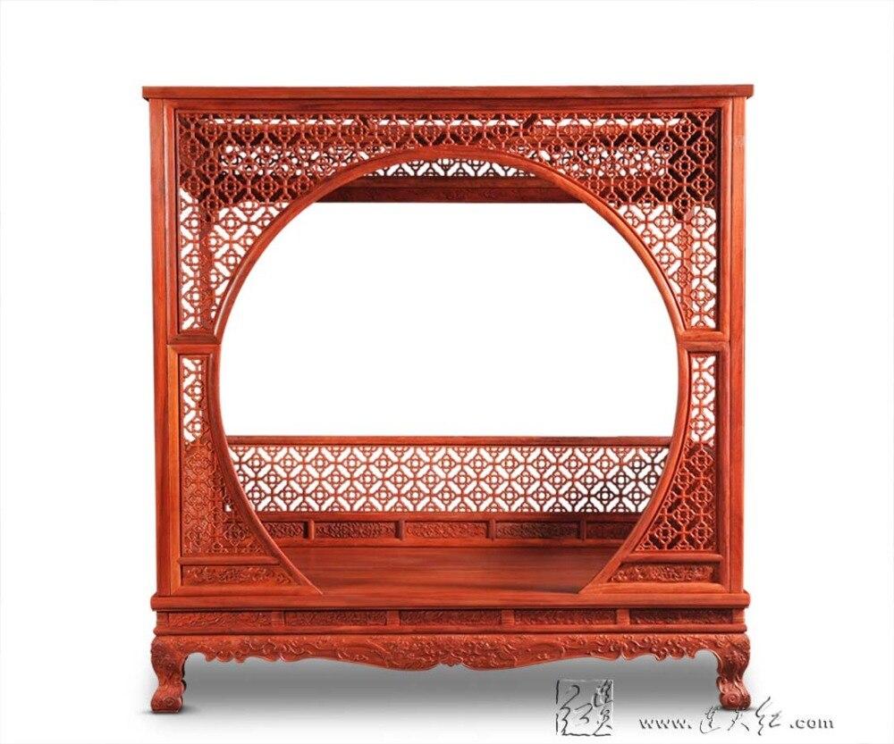 17432 78 7 De Reduction Usine Peut Etre Personnalise Roi Cadre De Lit Chinois Retro Classique Double A Baldaquin Crayon Post Lit Bedframed