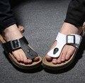 Masculino de alta qualidade de cor preto e branco escolha praia flip flops chinelos de Verão chinelos em casa masculinos mens legal rua ocasional