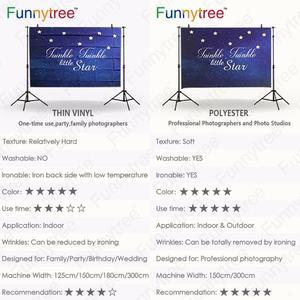 Image 5 - Funnytree רקע צילום כחול זהב מסגרת הקדוש gril Custom הקודש לחגוג קישוט תפאורות טפט שיחת וידאו