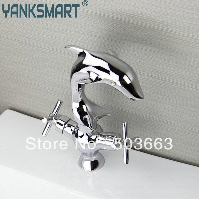 New Brass Vanity Chrome Dual Handle Bathroom Sink Deck Mount Single Handle Wash Basin Sink Vessel Torneira Tap Mixer Faucet