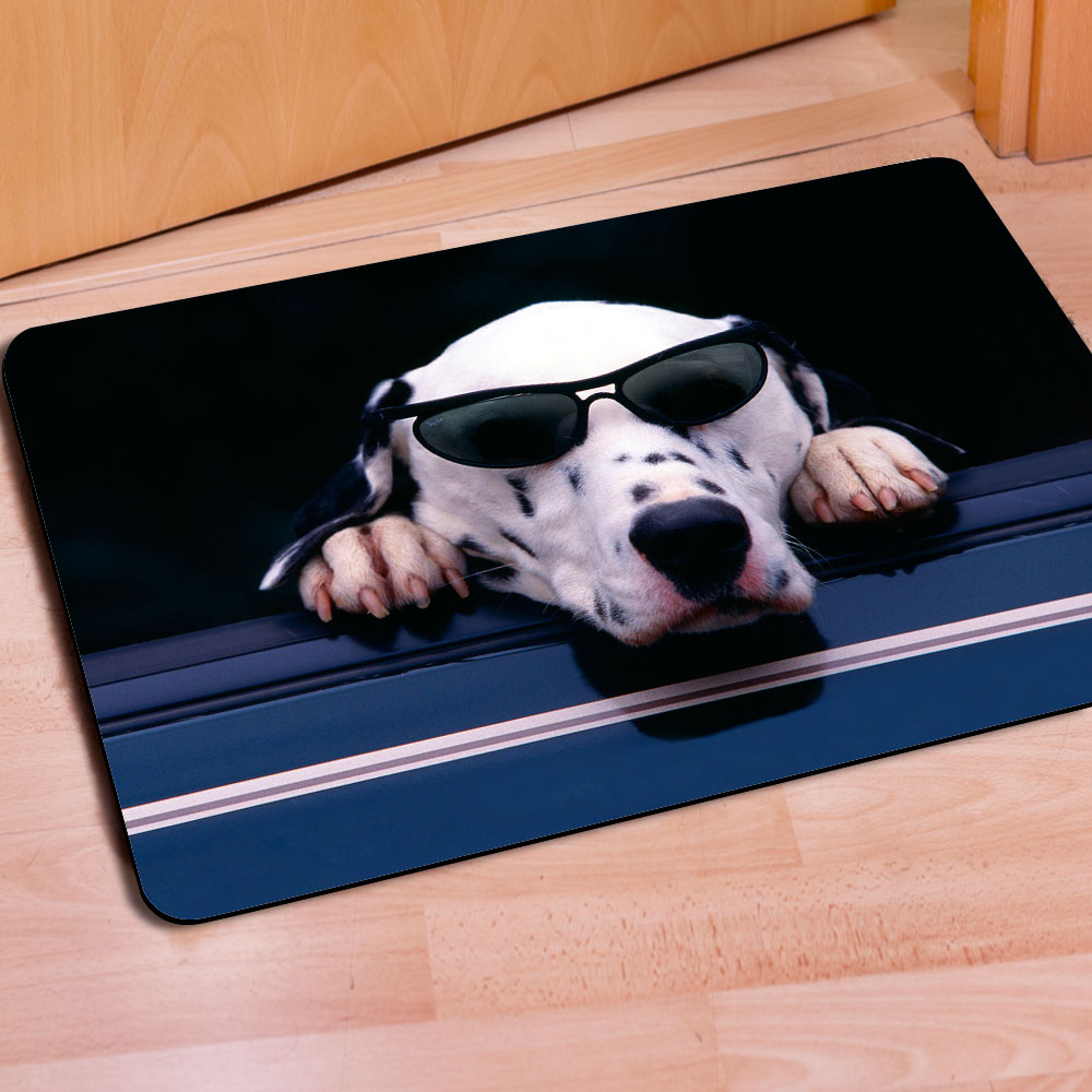 dog paw floor fleece printed pet mats goods for houses carpet dogs bone breathable cover beds mat products cat floors winter animals