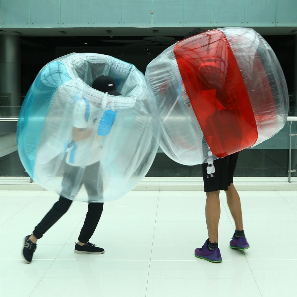 Outdoor Activity PVC Inflatable Bubble Collision Bumper Buffer Ball Training Running Sport Family Game Body Suit Loopy Ball ball style pvc anti collision angle guard for kids translucent white