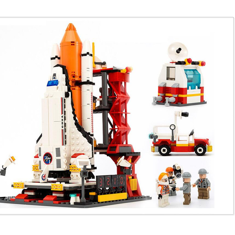 Aerospace Series Space Shuttle Building Blocks Compatible Legoings Intelligence Toy Simulation Space Shuttle Assembly Model wl mini blocks captain america animal fruit intelligence model building nanoblock diy cute party supplies toy