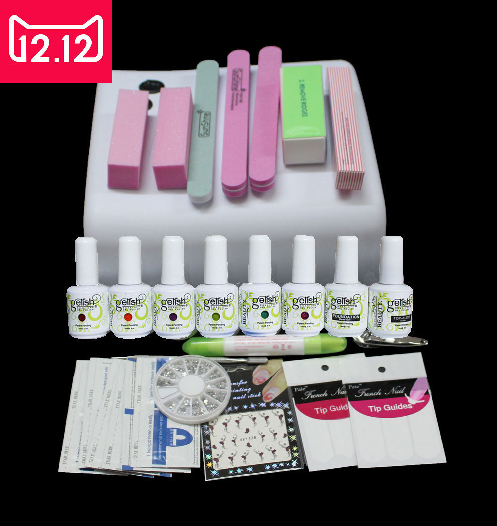 ФОТО EM-73  Gel nail polishmanicure set  36W  uv Curing Lamp Manicure  nail tools ,manicure tools nails ,top uv gel nail polish