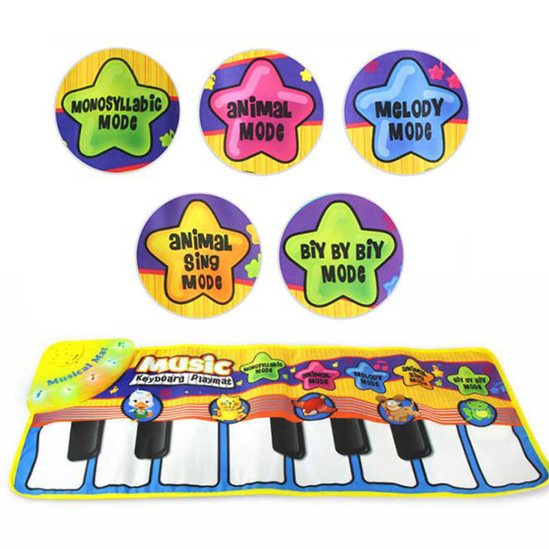 New Infant Baby Piano Playing Toy With Funny Music And Animal Sounds  Crawling Mat Bay Kids Educational Gift 71*28cm