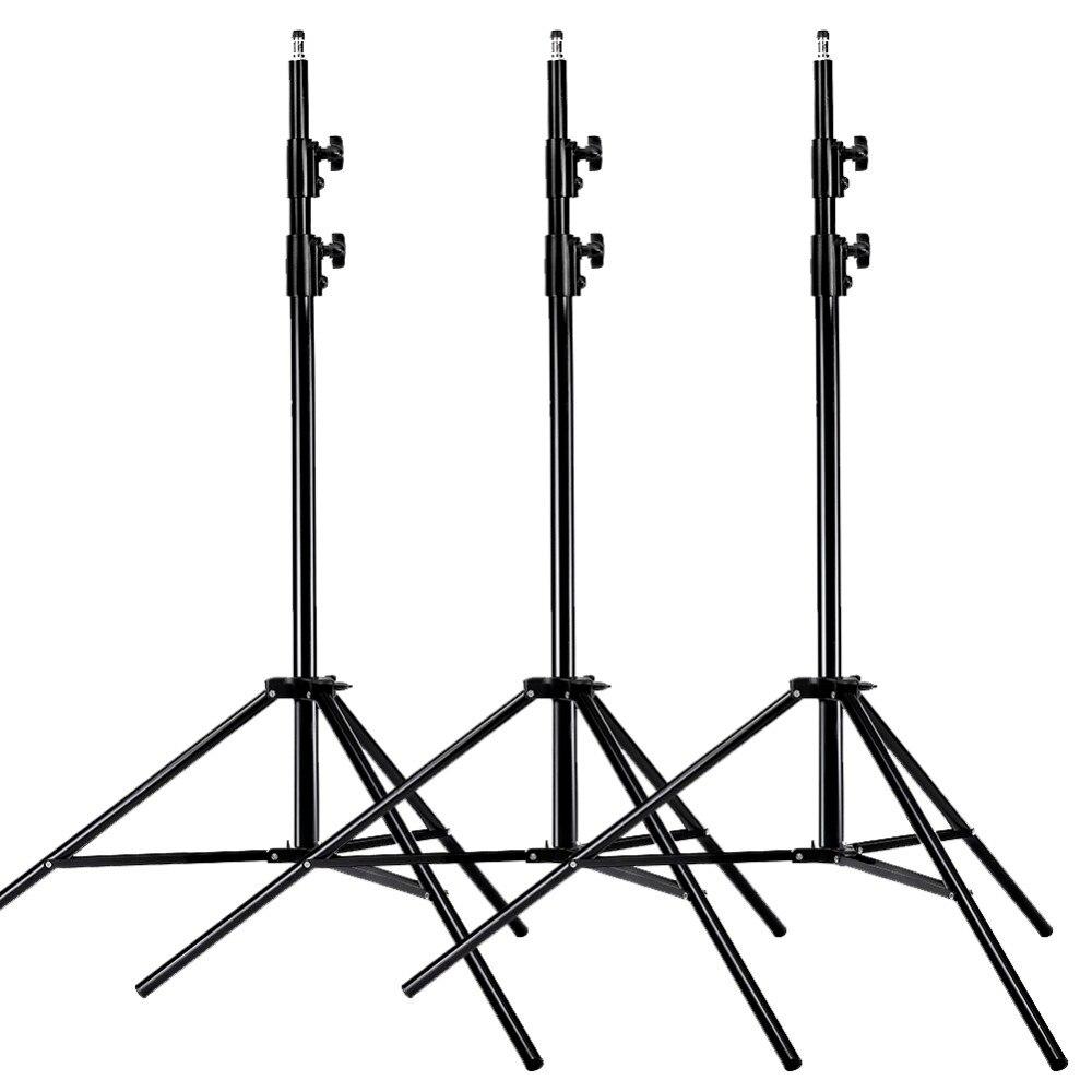 Neewer® PRO 9 pieds/260 cm Kit de supports de lumière pour Studio Photo en alliage d'aluminium robuste