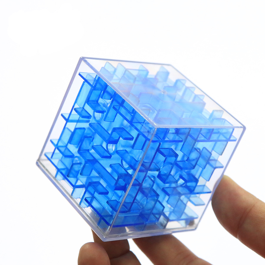 UainCube 3D Cube Puzzle Maze Toy Hand Game Case Box Fun Brain Game Challenge Fidget Toys Balance Educational Toys For Children(China)