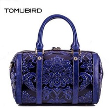 TOMUBIRD New Superior cowhide leather Designer famous brand embossed Pillow bag women bag fashion Tote women genuine leather bag